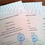 Выдача сертификатов по курсу Инновационные коммуникации