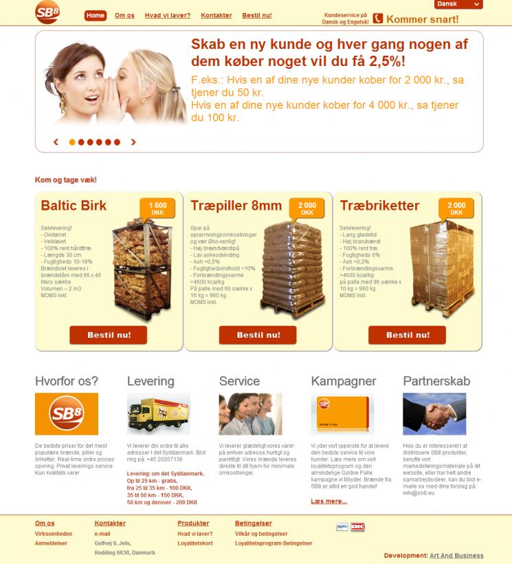 SB8 ApS Главная страница сайта – для покупателя все просто и понятно!